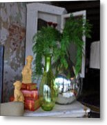 French Reflection Metal Print