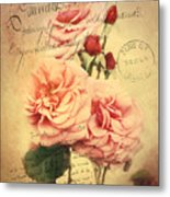 French Rose Bouquet Metal Print