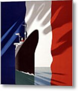 French Shipping Line Poster Metal Print