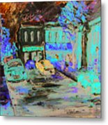 French Storefronts Metal Print