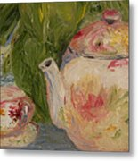 French Teapot Metal Print