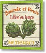 French Vegetable Sign 2 Metal Print by Debbie DeWitt