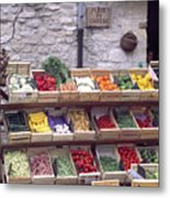 French Vegetable Stand Metal Print