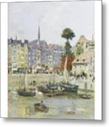 French View Of Honfleur Metal Print