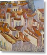 French Villlage Painting Metal Print