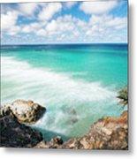 Frenchmans Beach On Stradbroke Island, Queensland. Metal Print