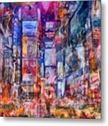 Frenzy New York City Metal Print