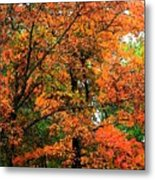 Fresco Autumn Diptych Left Metal Print