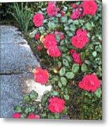 Fresco Roses Metal Print