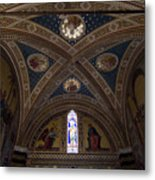 Frescoes Inside The Church At Brolio Metal Print