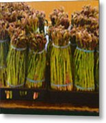 fresh Asparagus Metal Print