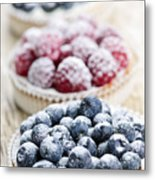 Fresh Berry Tarts Metal Print