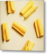 Fresh Butter Curls On Table Metal Print