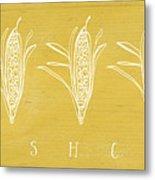 Fresh Corn- Art By Linda Woods Metal Print