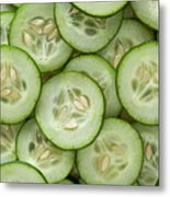 Fresh Cucumbers Metal Print