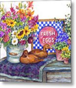 Fresh Eggs Metal Print