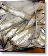 Fresh Fishes In A Market 3 Metal Print
