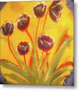 Fresh Flowers- 2nd In Series- The Dawn Metal Print