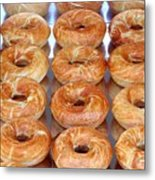 Fresh Frosted Doughnuts On Sale Metal Print