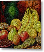 Fresh Fruit Tiled Metal Print