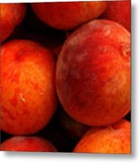 Fresh Fuzzy Peaches Metal Print
