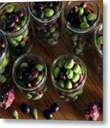 Fresh Harvested Olives And Tunas Metal Print