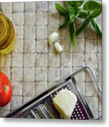 Fresh Italian Cooking Ingredients Metal Print