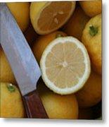 Fresh Lemons Metal Print