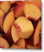Fresh Peaches Metal Print