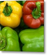Fresh Peppers II Metal Print