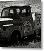 Fresh Produce Free Range Eggs Metal Print