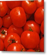 Fresh Red Tomatoes Metal Print