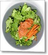 Fresh Seafood Salad With Smoked Salmon Metal Print