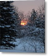 Fresh Snow At Sunrise Metal Print