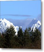 Fresh Snow On Golden Ears Metal Print