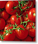 Fresh Tomotos On The Vine Metal Print