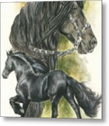 Friesian Metal Print