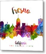 Fresno California Skyline 23 Metal Print