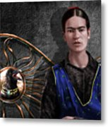 Frida - Wall Flower Waiting Metal Print