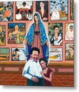 Frida And Diego Metal Print