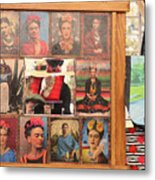 Frida Kahlo Display Picts Metal Print