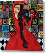 Frida Kahlo Flamenco Dancing  Metal Print by Rain Ririn