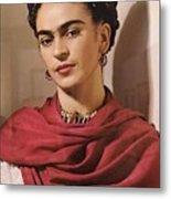 Frida Kahlo Live Metal Print