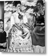 Frida Kahlo Shown With Her Painting Me Metal Print
