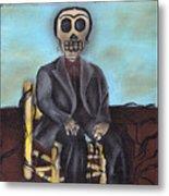 Frida Portrait Insipired Painting Metal Print