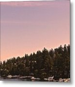 Friday Harbor Panorama Metal Print
