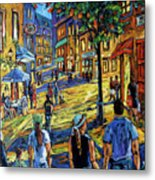 Friday Night Walk Prankearts Fine Arts Metal Print