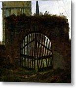 Friedrich Caspar David The Cemetery Gate Metal Print