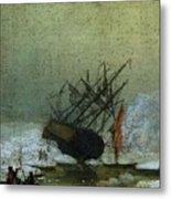 Friedrich Caspar David Wreck By The Sea Metal Print