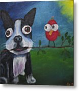 Friends Don't Fly Away Metal Print